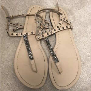 Beautiful sandals with bling